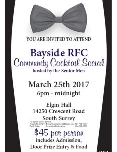 Mens Fundraiser March 25