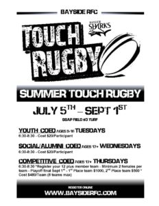 Bayside Summer Touch Rugby